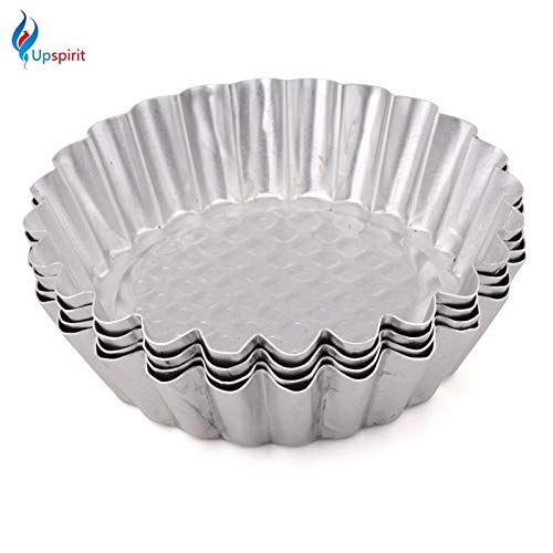 Laliva New 6PCS OR 10Pcs Large Size Cookie Pudding Mould Makers Aluminum Cupcake Egg Tart Mold Kitchen Accessories Baking Pastry Tools - (Color: 6 Pcs)