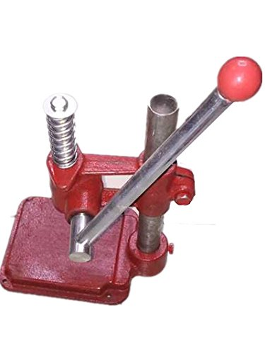 JIAWANSHUN Handmade Fabric Cover Button Maker Button Making Machine with 3 Molds and 1500 pcs Buttons