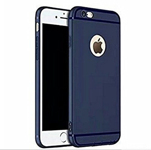 Crombie Soft Silicone Slim Back Cover Case for Apple iPhone 6/6S  Dark Navy Blue