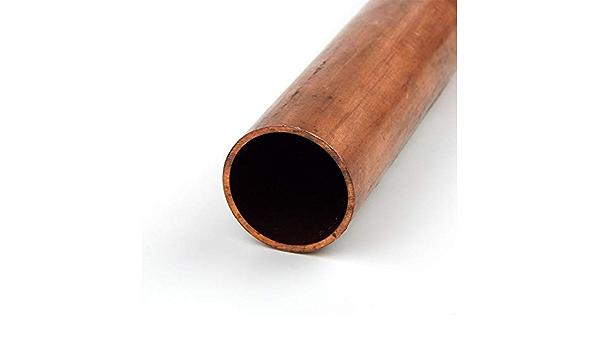 24 Length 1//2 Wall 6.5 OD Copper 101-H04 Round Tubing 5.5 ID ASTM F68