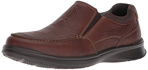 CLARKS Men's Cotrell Free Loafer, Tobacco Leather, 11 Medium US (Clarks Shoe Man)
