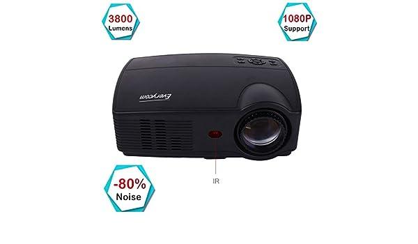 Proyector, T4 3800 Lúmenes Video Beamer Proyector de cine en casa ...