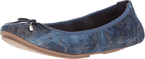 Me Too Women's Halle Blue Champagne Denim 8 M US (Me Too Flats)