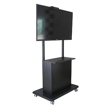 TV móvil Stand Trolley Carro móvil motorizado TV Ascensor Piso Stands Rolling TV carros Pantalla Plana