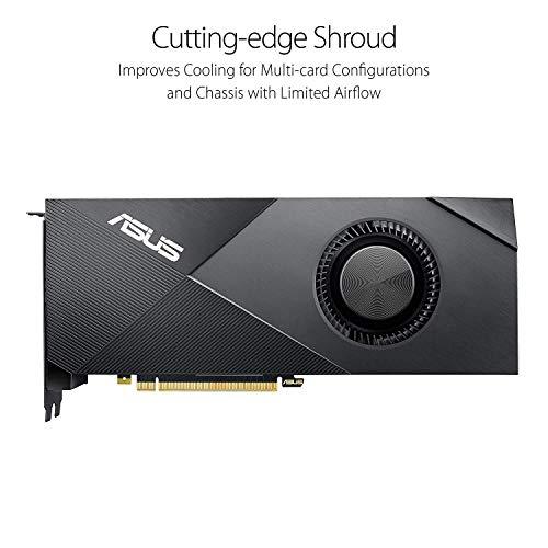ASUS GeForce RTX 2080 Ti 11G Turbo Edition GDDR6 HDMI DP 1.4 Type-C graphics card (TURBO-RTX2080TI-11G) (Renewed)