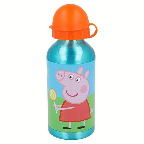 Peppa Pig Botella cantimplora de aluminio 400ml (Stor 48634)