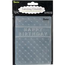 Darice Happy Birthday Embossing Folder, 4 .25-Inch by 5.75-Inch