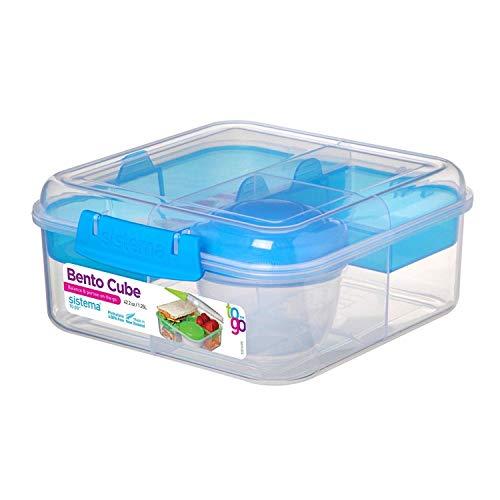 Sistema Bento Cube Box to Go with Fruit/Yogurt Pot, 1.25 L