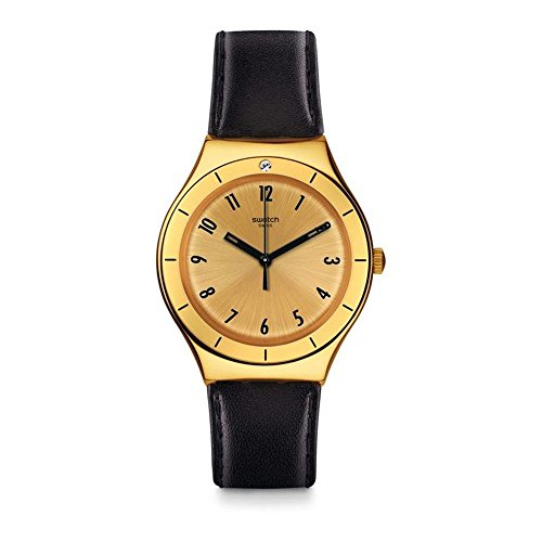 Swatch Irony Quartz Movement Gold Dial Unisex Watch YGG105
