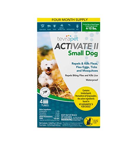 (TevraPet Activate II Flea and Tick Prevention for Dogs - Topical, 4-10)