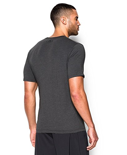 Under Armour Men's Charged Cotton Left Chest Lockup T-Shirt, Carbon Heather /Black, Small by Under Armour (Image #1)