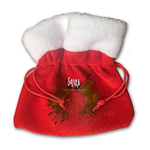 DarleneRStacySD Xmas Gojira L'enfant Sauvage Bags/Santa Claus Gift Bag Drawstring Pocket/Kids Party Bag and Candy Gift Bag