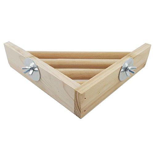 Bleumoo Pet Products Wood Corner Shelf Laddered Platform