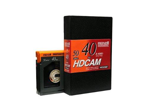 Box of 10 Maxell B-40HD HDCAM Video Tape, 40 Minute, Small
