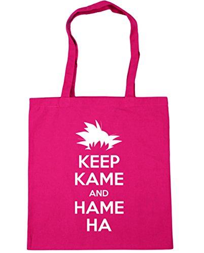 HippoWarehouse Keep Kame y Hame Ha Tote Compras Bolsa de playa 42cm x38cm, 10litros fucsia
