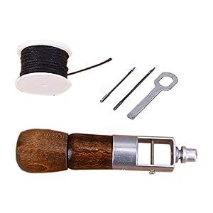 Yangoutool Leather Sewing Awl Kit,Fabric Sewing Awl,Stitching Awl Tool Kit for Military Garments, Lock Stitching Tool Kit