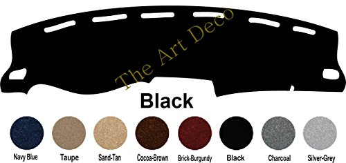 The ArtDeco Premium Carpet Dash Cover Mat for Chrysler 300 Series - Fits 2011 -~2019 (Please Select Color from Options menu!) (Black)