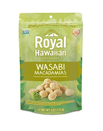 Royal Hawaiian Orchards Wasabi Macadamia Nuts 4oz (Pack of 6)