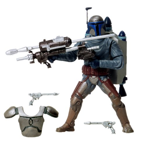 Star Wars Attack of the Clones Jango Fett w/Snap On Armor]()