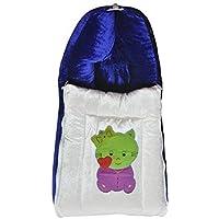 BABIQUE Velvet Baby Blanket wrap Sleeping Cum Carry Bag(Blue)