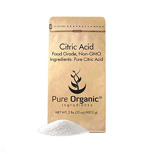 Citric Acid (2 lb (32 oz)) by Pure Organic Ingredients, Eco-Friendly Packaging, All-Natural, Highest Quality, Pure, Food Grade, Non-GMO (Also available in 4 oz, 11 oz, 1 lb, 55 lb)