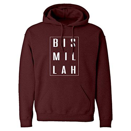 Indica Plateau Hoodie Bismillah Medium Maroon Hooded Sweatshirt