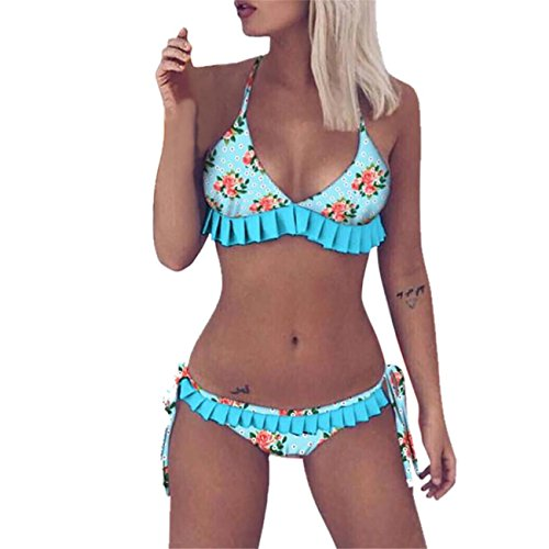 Floreale Costume Split Con Stampa Donna Swimsuit up bikini Sexy Push Bikini Verde Lhwy Estate wRz7TqvAE
