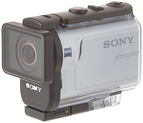 Sony HDRAS300R/W HD Recording, Action Cam, Live View Remote Underwater Camcorder, White