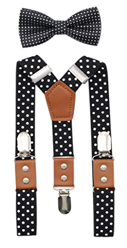JAIFEI Suspender & Bowtie Set For Men &