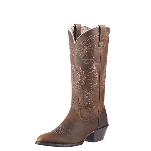 Ariat Women's Magnolia Western Cowboy Boot, Distressed Brown, 7.5 M US ()
