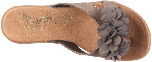 Rieker Lindsey 63491-64 - Sandalias de dedo para mujer Beige