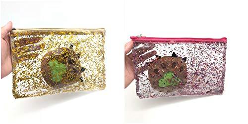 Package Alla oro File Ladies Moda Zipper Transparent Simple Clutch Envelope Bdqfw0B