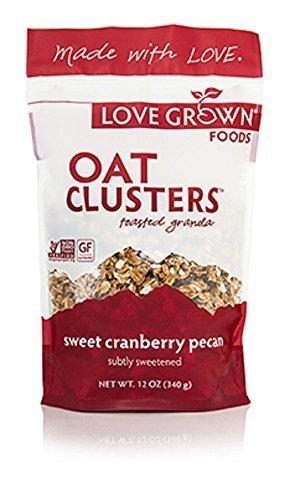 Love Grown Foods Sweet Cranberry Pecan Granola, 12 Ounce -- 6 per case. by Love Grown - Granola Cranberry Pecan