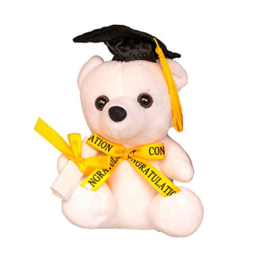 "CHARMING TOY Graduation White Tatty Teddy Bear 6"" with Diploma and..."