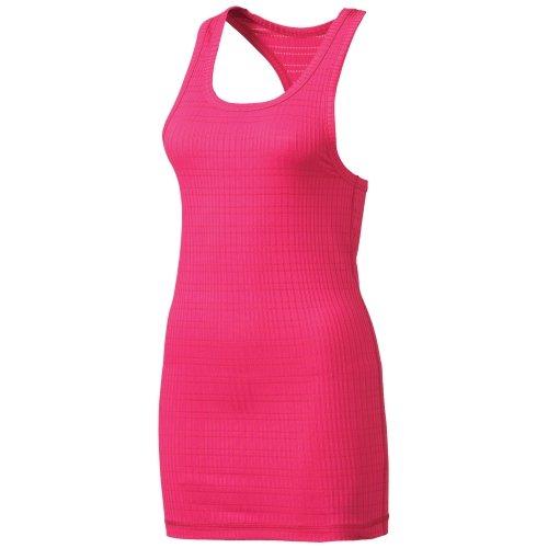 Reebok Women's Novelty Rib Tank Top (Small, Pink Glow)