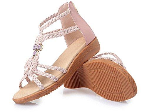 Xia Jiping con sandalias del ms zapatos de suela blanda estudiante rosa