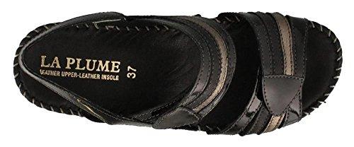 Anya LaPlume sandal PATENT BLACK Women's aqRPw5nU5