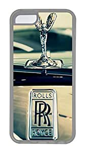 iPhone 5C Case, iPhone 5C Cases - Scratch Resistant Crystal Clear Case for iPhone 5C Rolls Royce Car Logo 6 Thinnest Ultra Flexible Soft Back Case for iPhone 5C