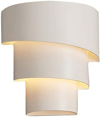 Aplique Pared Interior LED 3W Lámpara de pared Moderna Blanco Cálido Perfecto for Salon Dormitorio Sala Pasillo Escalera (con fuente de luz): Amazon.es: Iluminación