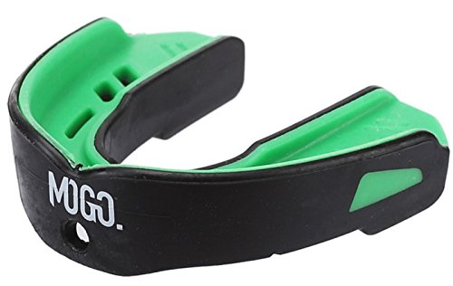 MoGo Mint Flavored Mouth Guard - Wrestling Boxing Football Mouth Piece for All Sports - Adult Mouth-Guard for Ages 11 & Up - Comes with Protective Case and Tether Strap