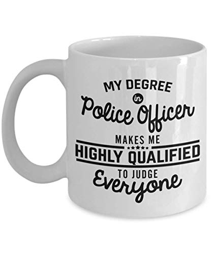 Academy Mug - Funny Police Officer Coffee Mug - Detective Police Academy Graduation Gifts 11 Oz Ceramic Novelty Tea Cup Unique Gift Idea For Men Woman Dad Boyfriend Girlfriend