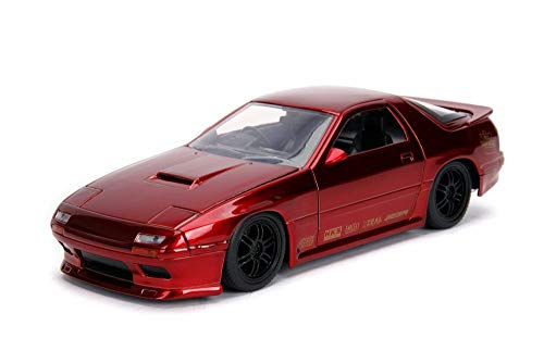 Red Car 7 Mazda Rx - 1985 Mazda RX-7 (FC), Candy Red - Jada 30941 - 1/24 Scale Diecast Model Toy Car