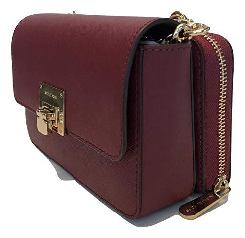 MICHAEL Michael Kors Tina Clutch Crossbody with Detachable Wallet (Mulberry) ()