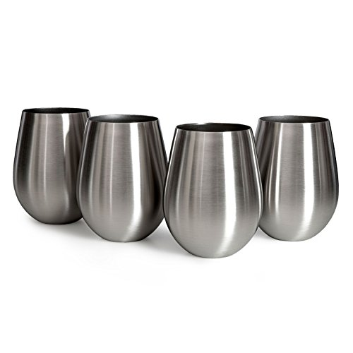 Sips Of Slainte Stemless Stainless Steel Wine Glasses (Original - Vs Glasses Acrylic Polycarbonate