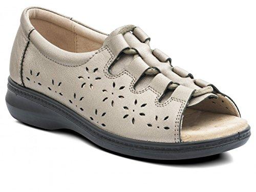 Padders - Sandalias de vestir de Piel para mujer Gris gris 38