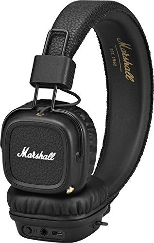 Marshall Major II Bluetooth On-Ear Headphones, Black (4091378) by Marshall