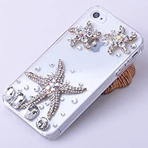 QJM iPhone 4/4S/iPhone 4 compatible Diamond Look/Transparent Jewel Covered Cases
