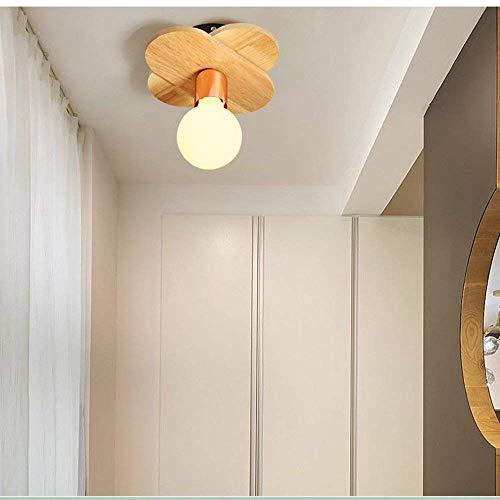 PLLP Living Room Bedroom Corridor Lighting, Household Ceiling Light European Style Modern Led Ceiling Lights Iron Art Solid Wood 1 Holder  5 Holder  7 Holder Lamps Living Room Lights Bedroom Light by PLLP (Image #3)