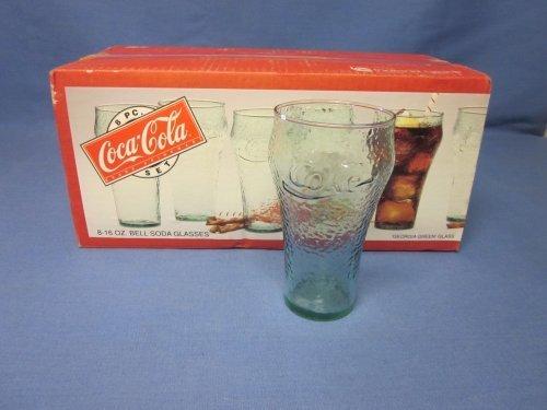 ((8) Indiana Glass Coca-Cola