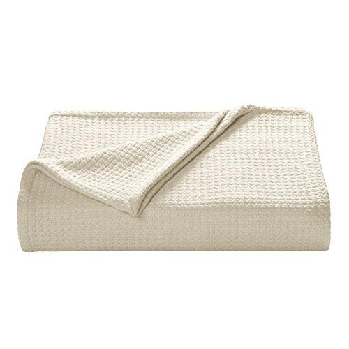 Tommy Bahama Bahama Coast Ecru Cotton Blanket, White,